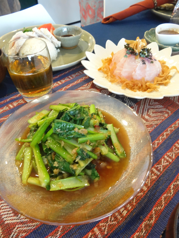 絶品小松菜のシャキシャキ中華炒め(豆苗・空心菜)