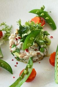 省エネ、春野菜とツナのライスサラダ