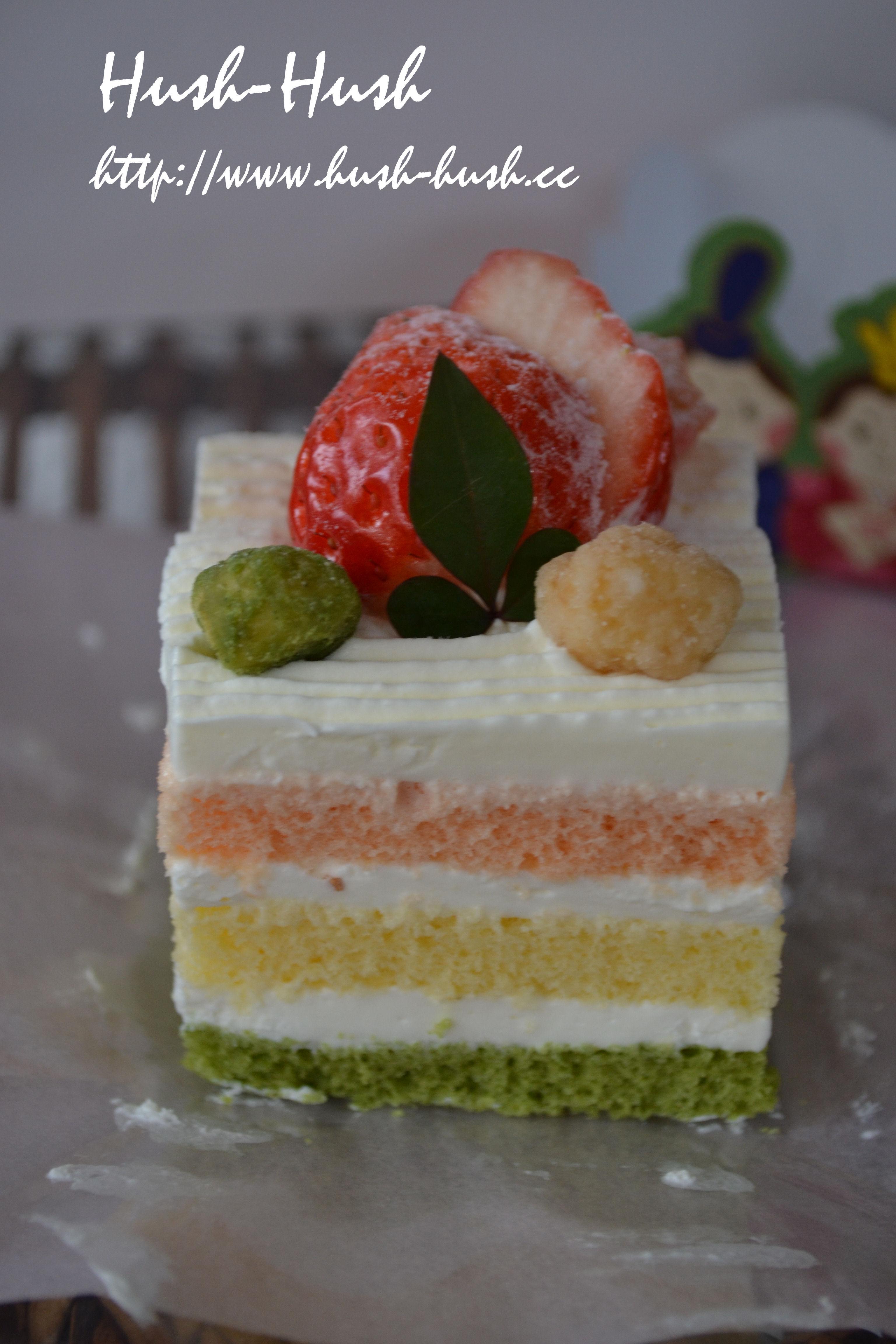 ♪ひなまつりレシピ★3色スポンジのひなケーキ★
