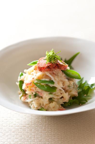 炙り明太子と桜海老の春色ポテトサラダ