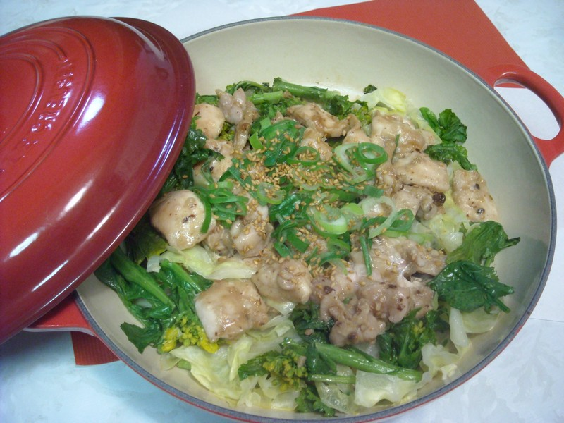 鶏と春野菜の蒸し焼き