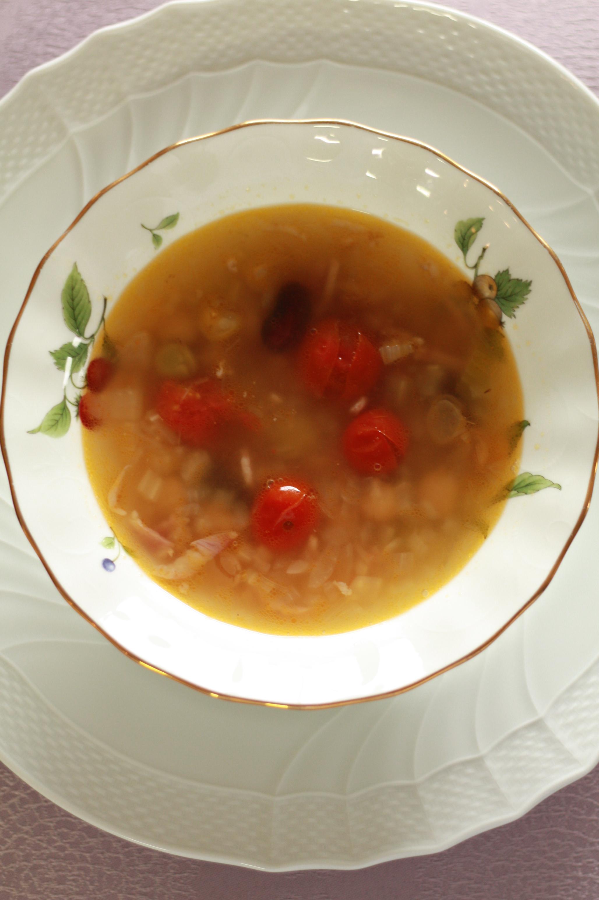 4種のお豆のミネストローネ