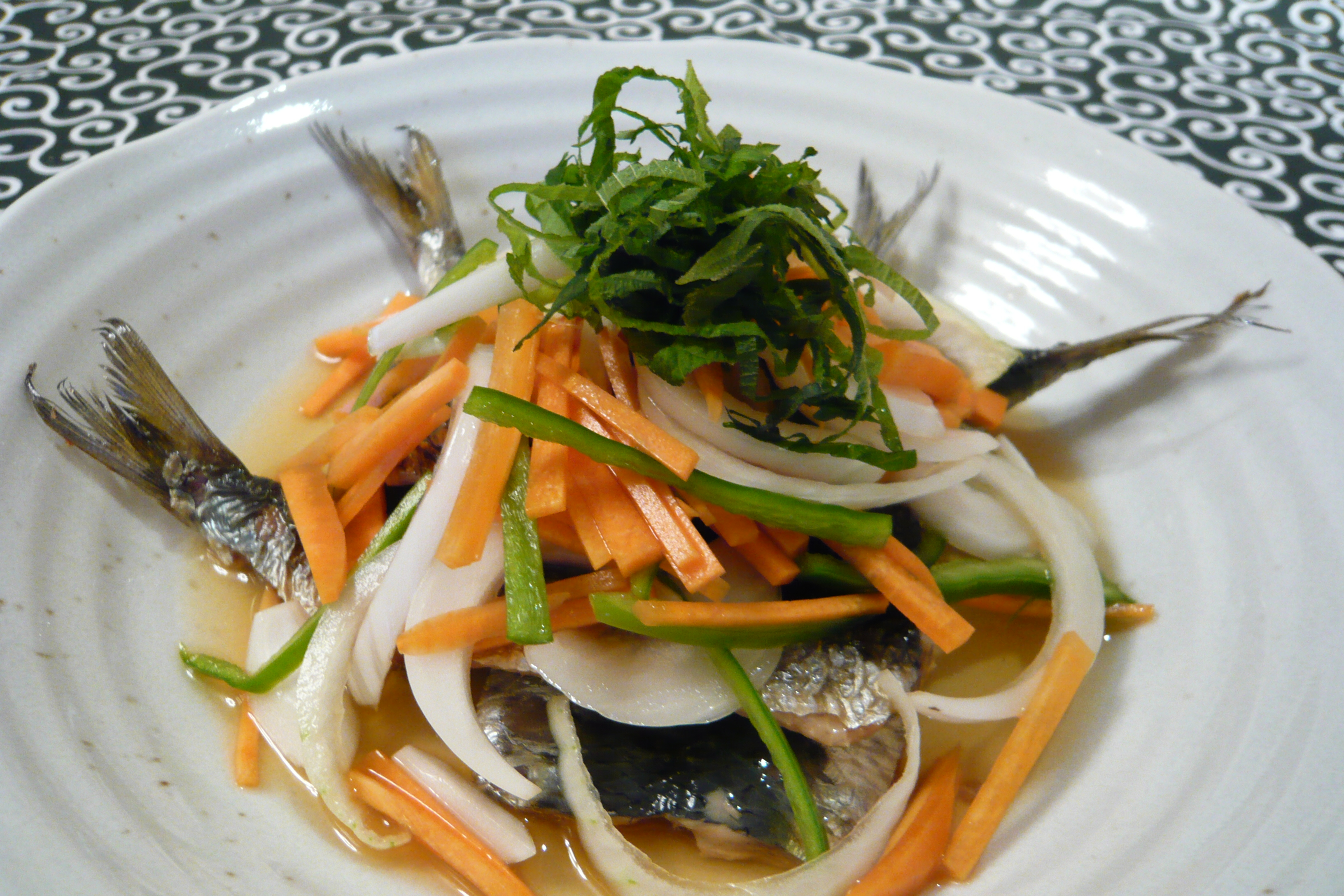 たっぷり野菜とお魚焼きマリネ