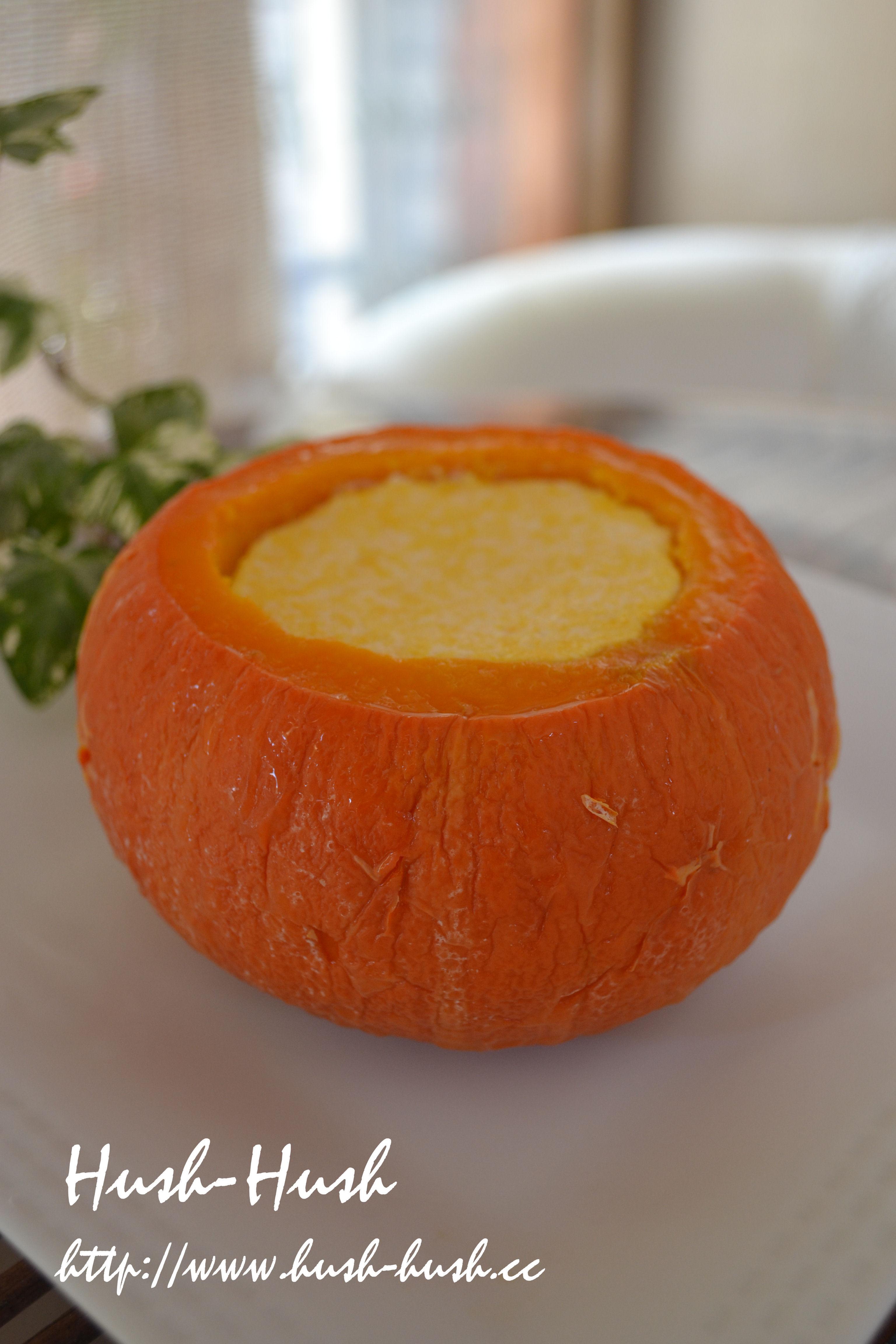 ♪★かぼちゃの丸ごとプリン★お鍋で!卵不使用ヘルシープリン♪