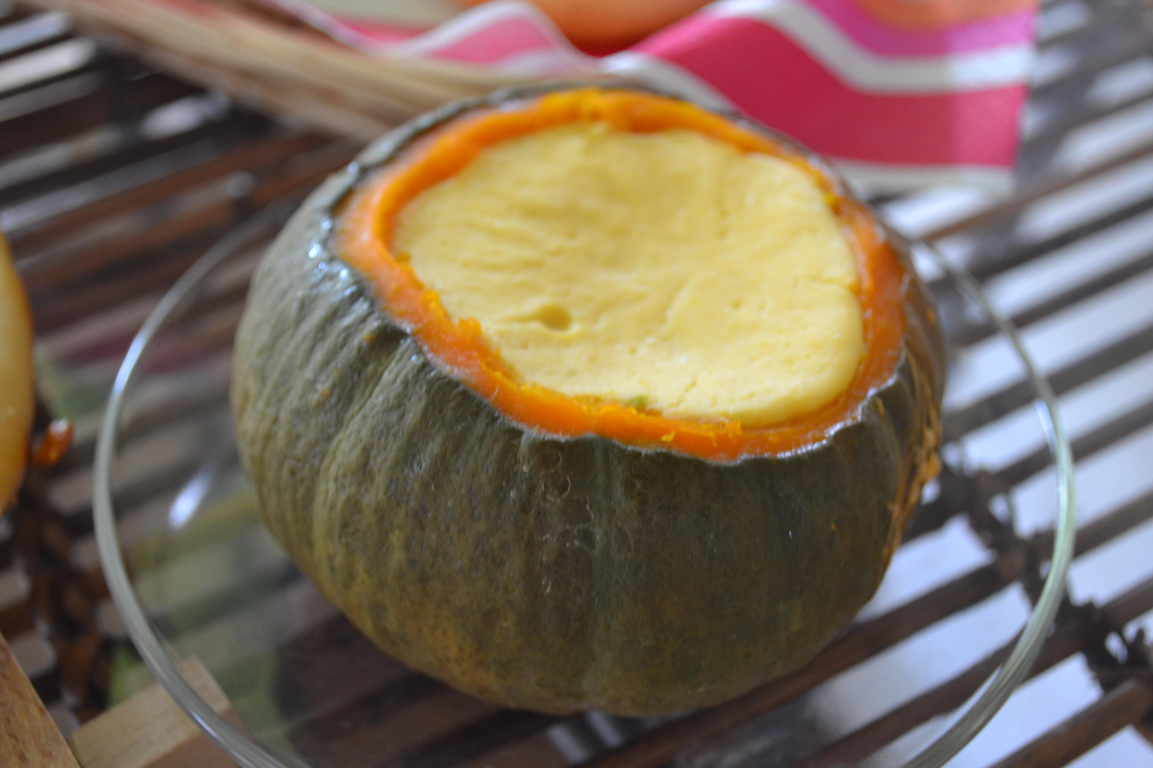 ★簡単!かぼちゃの丸ごとプリン★酒粕風味♪