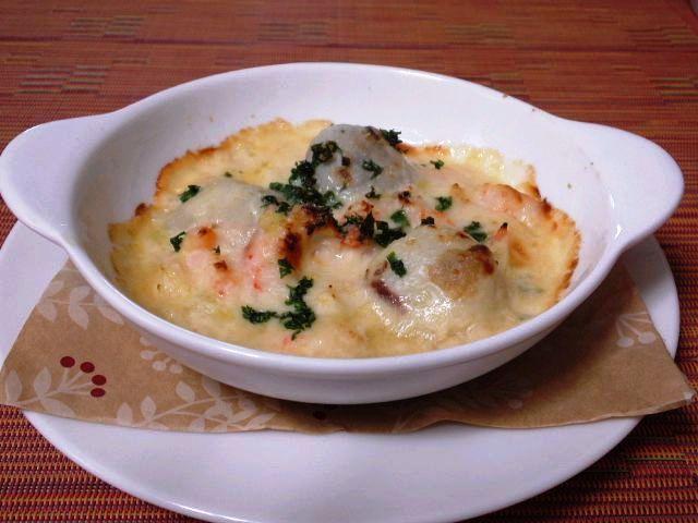 里芋と小海老の洋風味噌グラタン