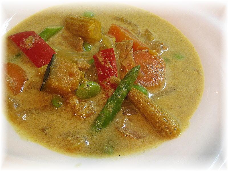 豆乳カレースープ