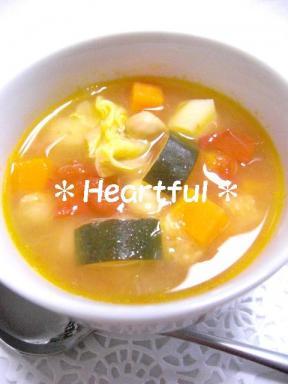 ひよこ豆と野菜のスープ ~ミネストローネ風~