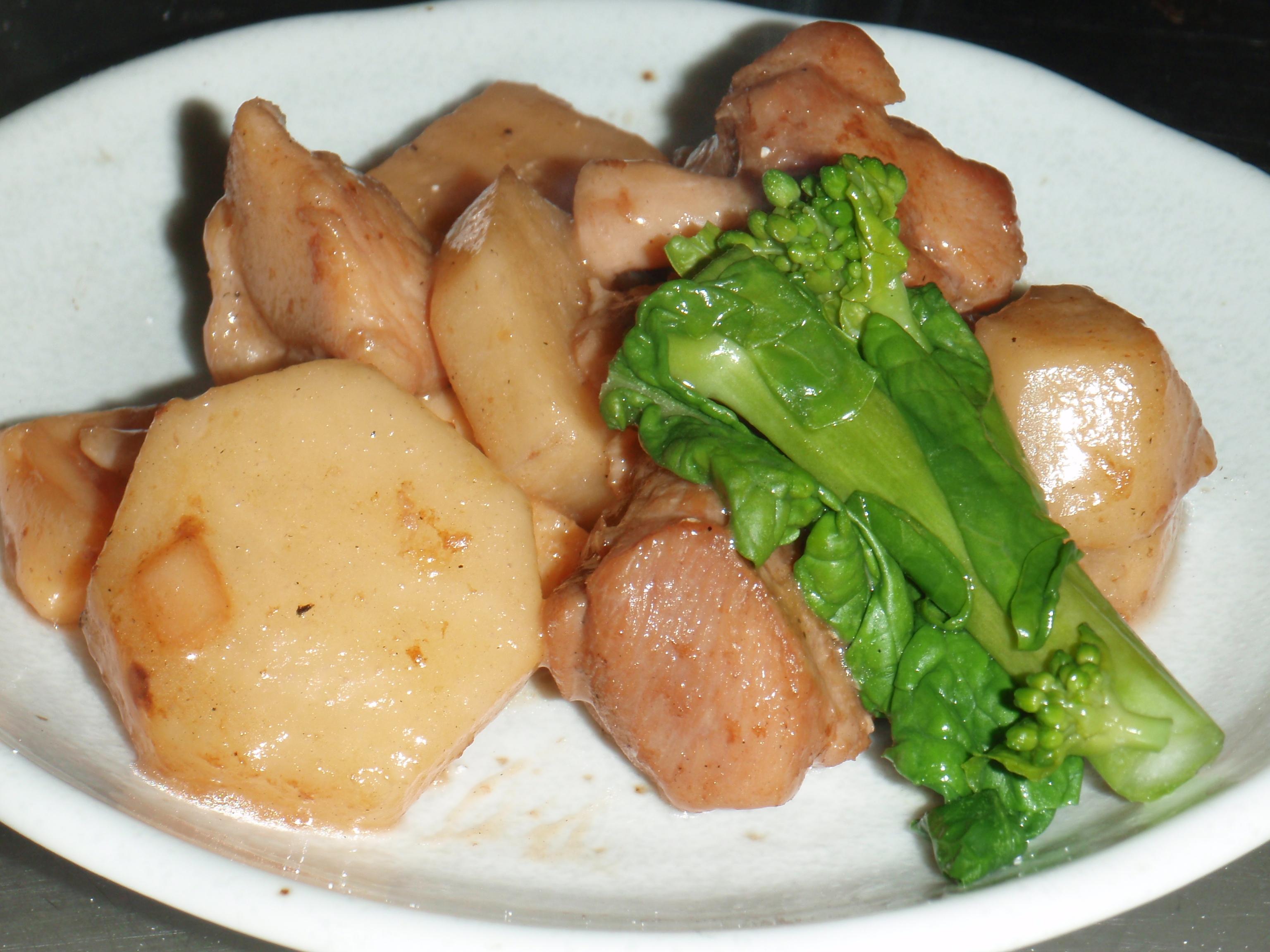 筍と里芋の炒め煮