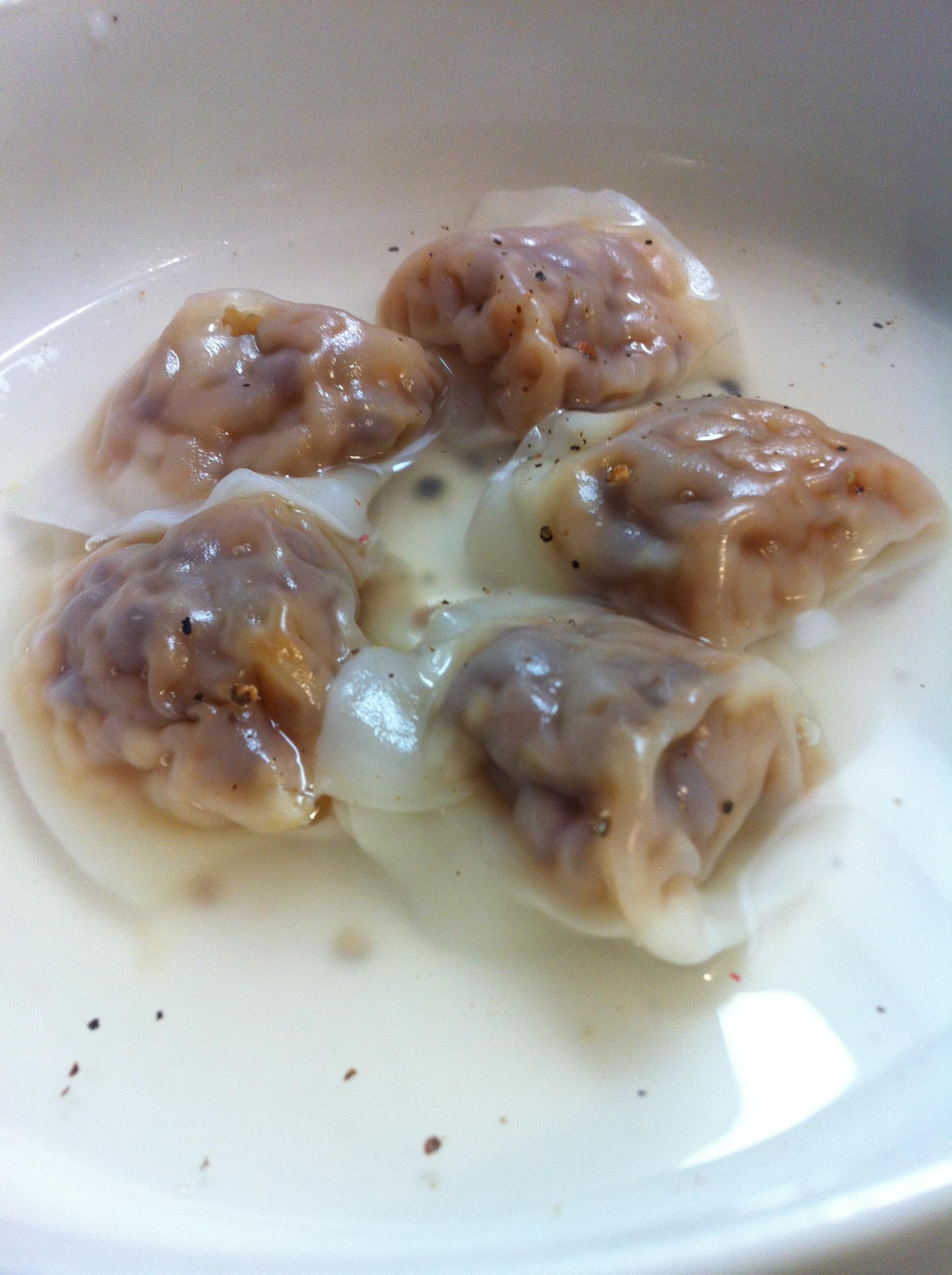 桜水餃子スープ