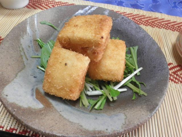 高野豆腐の揚げ物