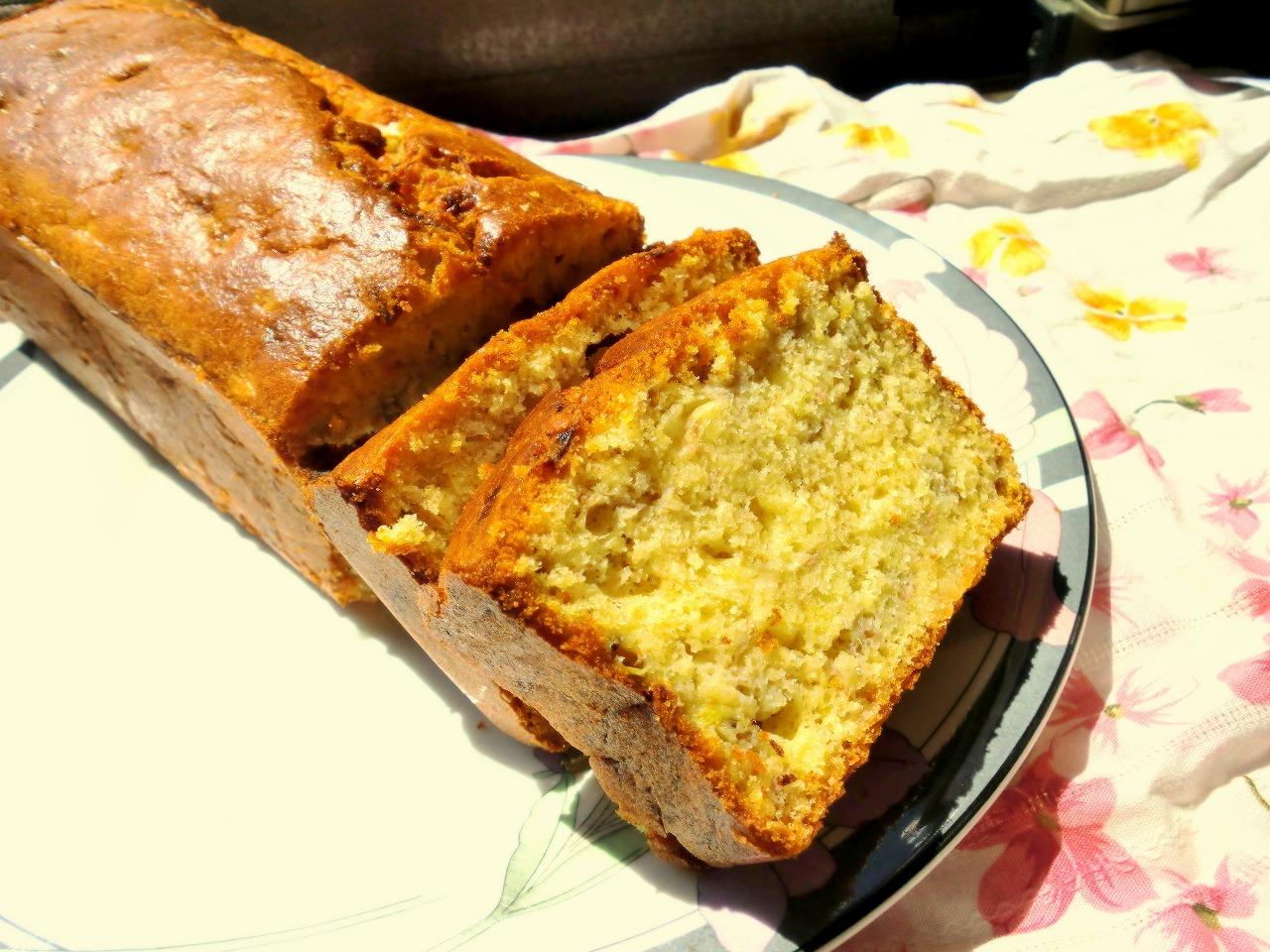 バター不使用・砂糖かなり控えめなバナナパウンドケーキ