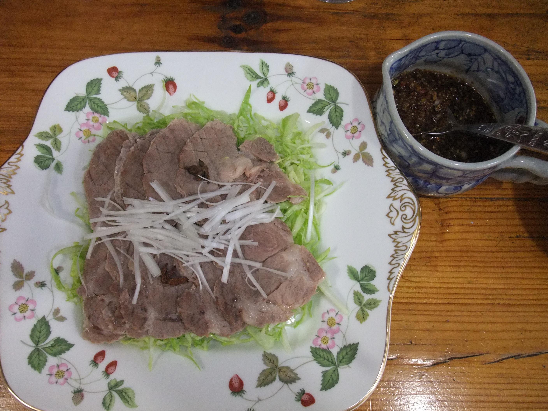 塩豚のゆで豚