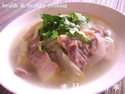 豚バラの香味塩スープ