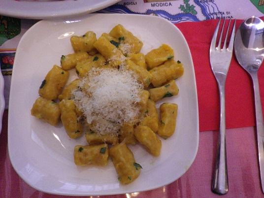 イタリア伝統料理~カボチャのニョッキ