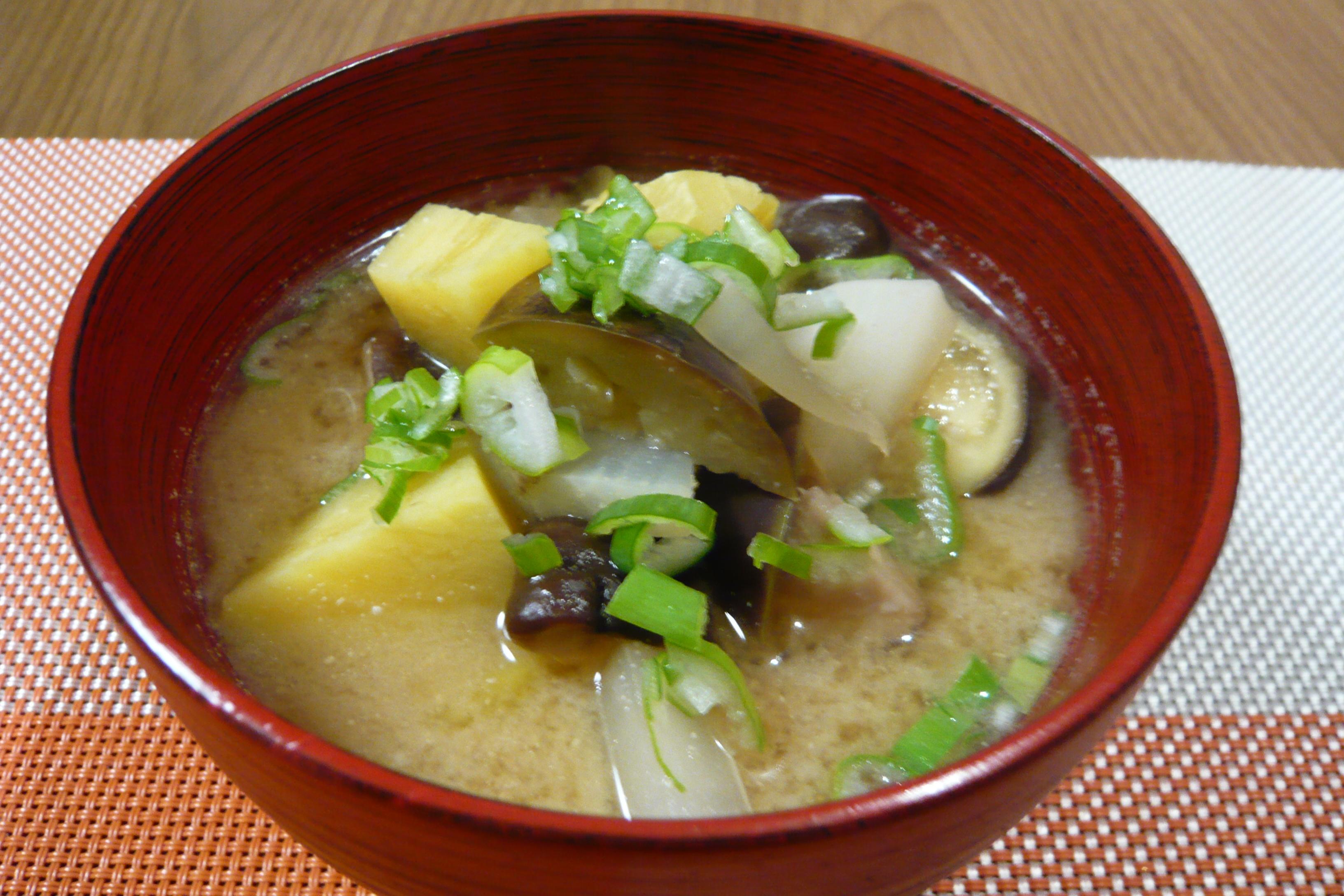 秋野菜の味噌汁