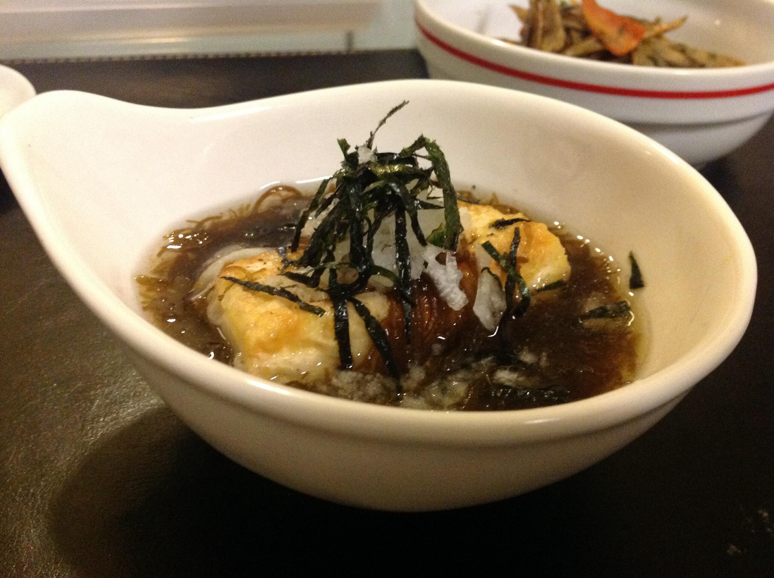 揚げ「鰹だしつゆもずく」豆腐