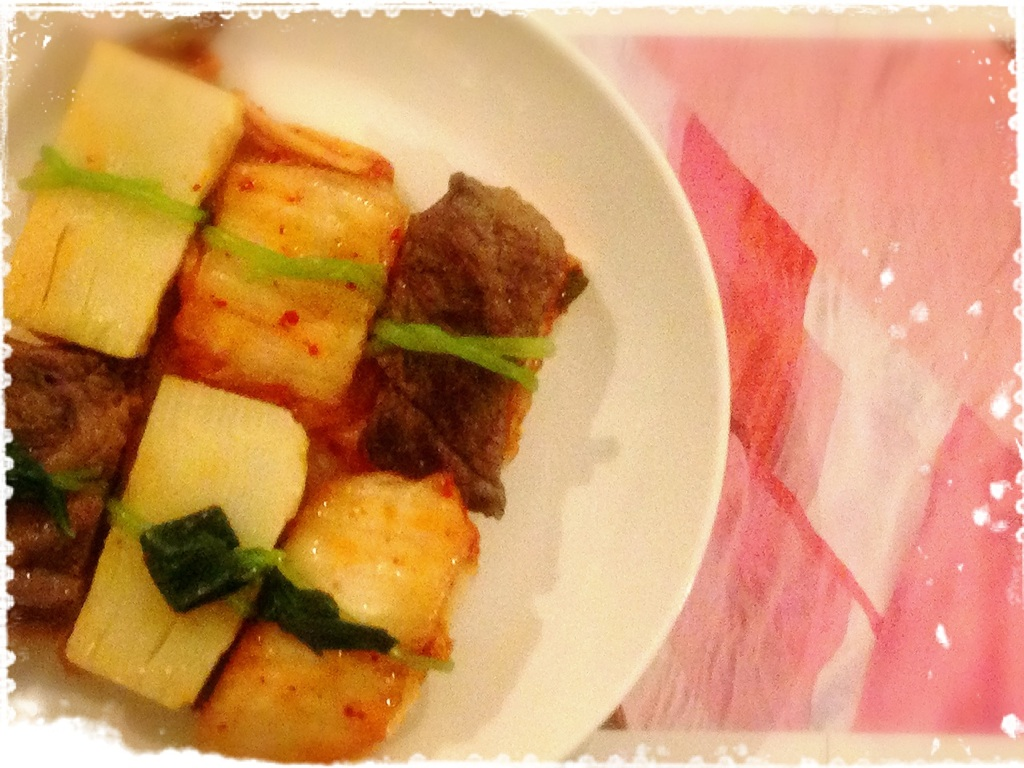 春の韓国風焼き物
