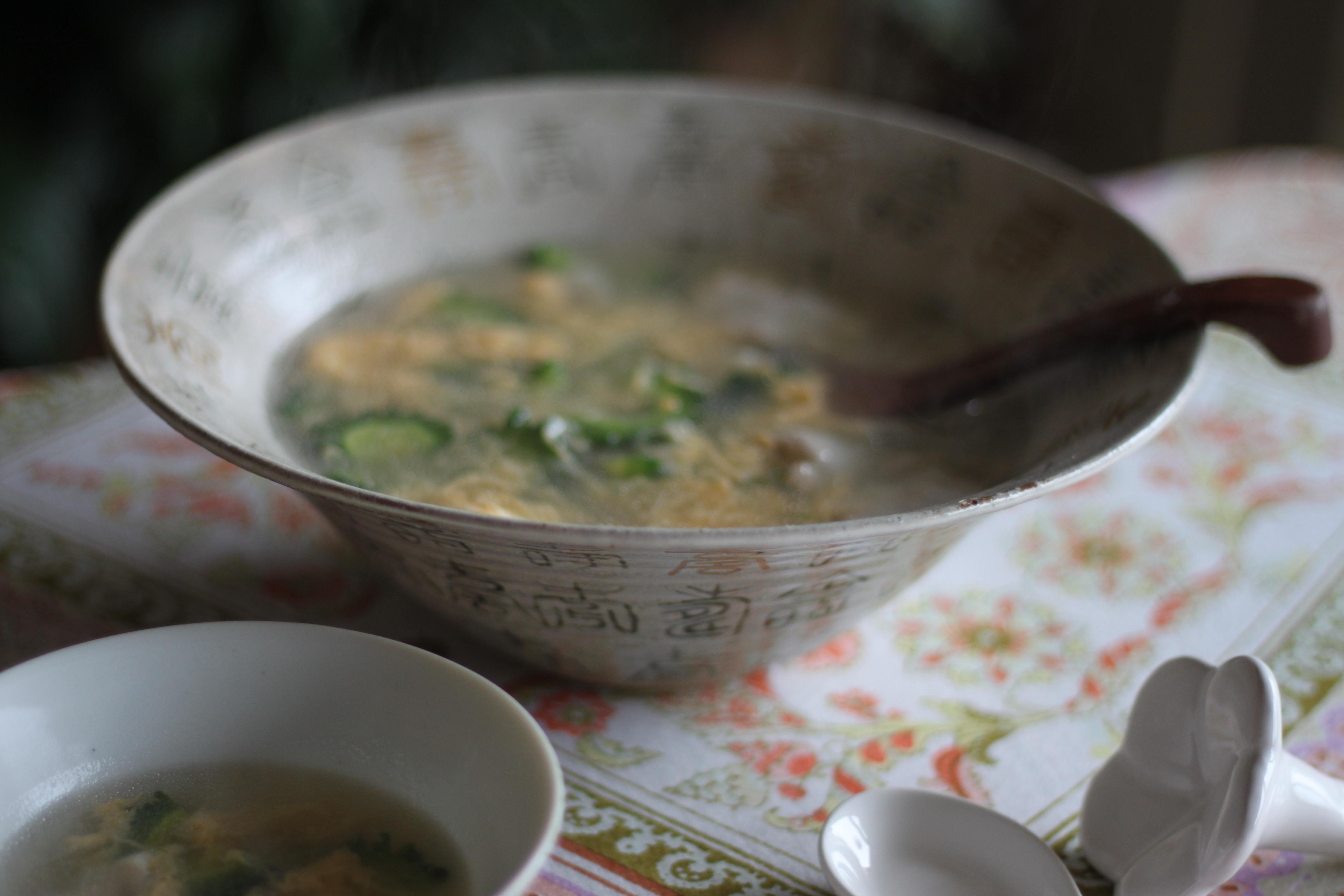 ゴーヤと豚の卵スープ