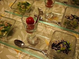 夏の3種常備菜プレート