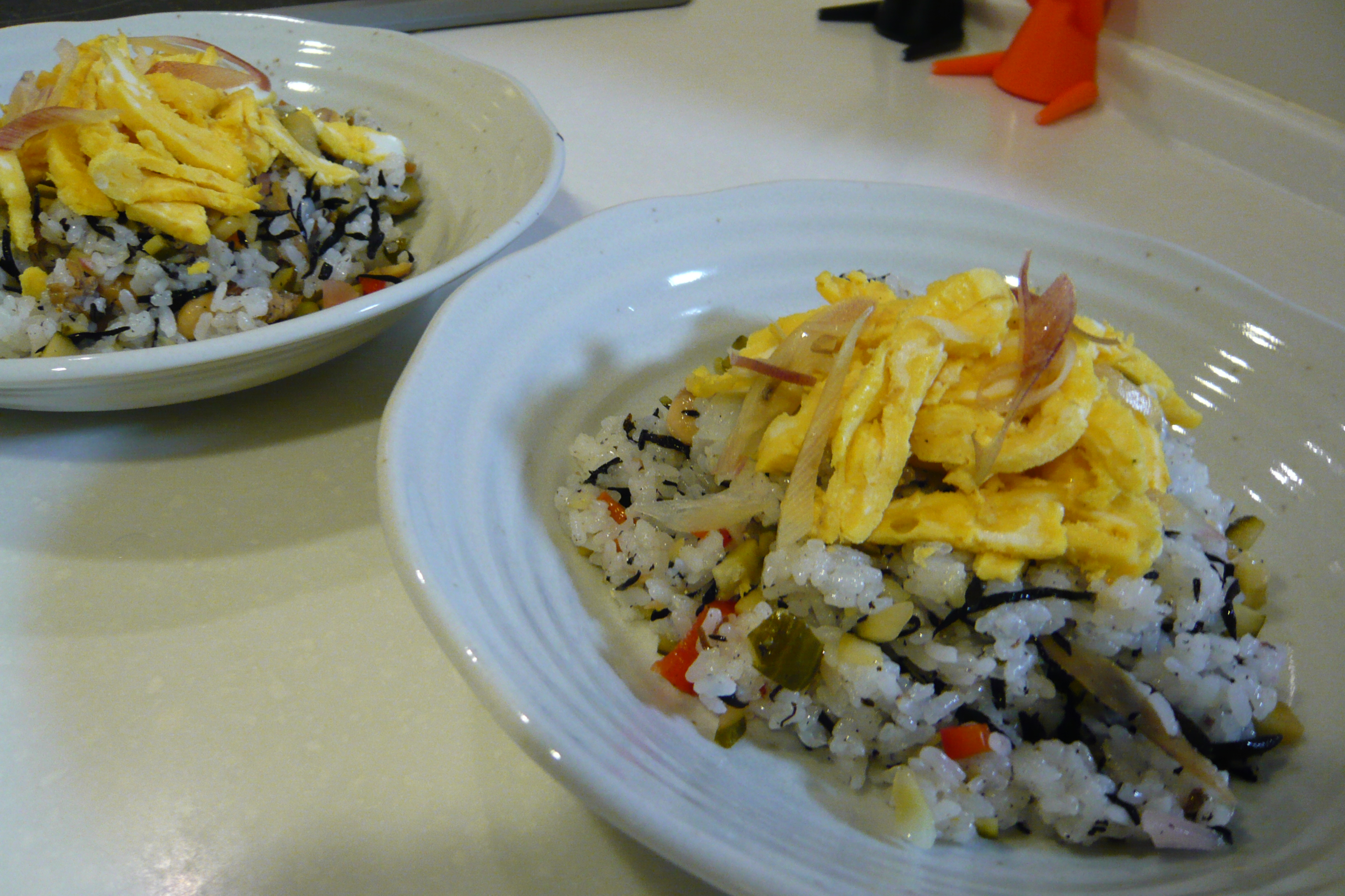 ひじき煮で混ぜご飯