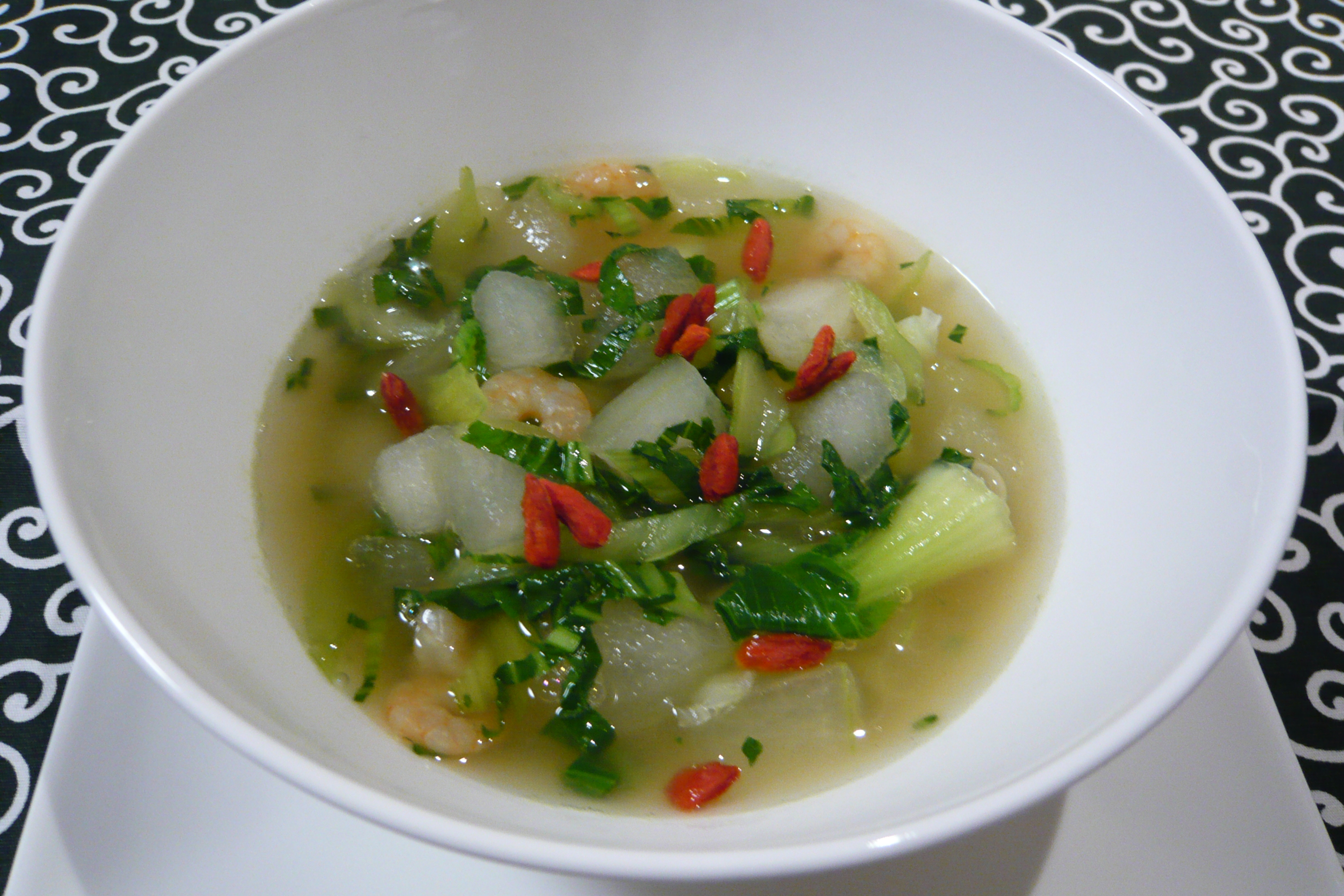 冬瓜とチンゲンサイのスープ