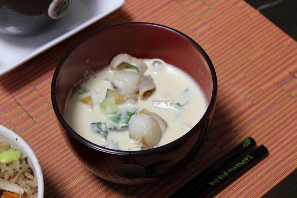 かぼちゃの豆乳スープ