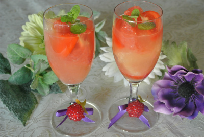 グレープフルーツとトマトのメープルジュースサラダ