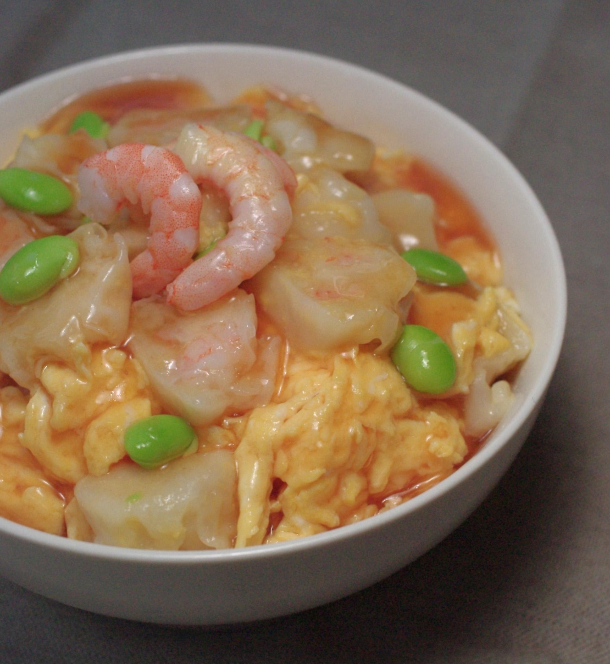 海鮮シューマイ天津丼
