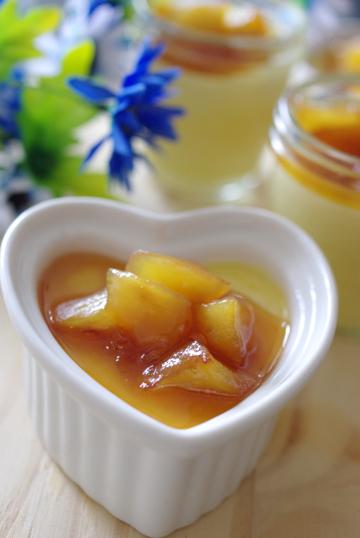心もからだも♪あったか蜜リンゴの焼きプリン