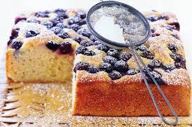 カントリースタイルブルーベリーケーキ