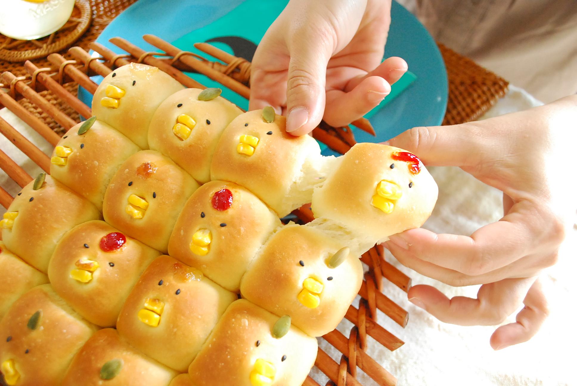 ピヨピヨ大集合?ちぎりパン??