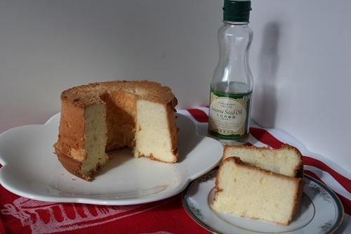 製菓用太白胡麻油のシフォンケーキ