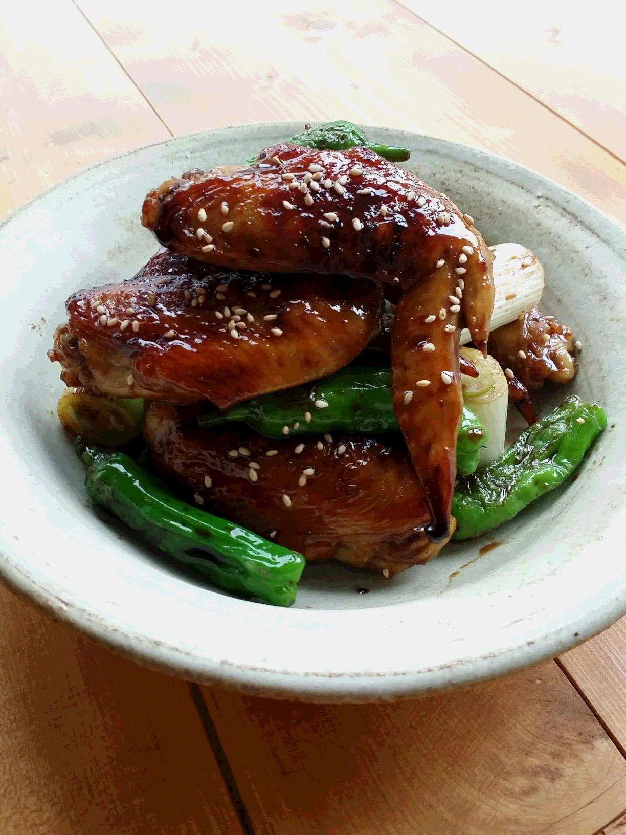 鶏手羽先の甘酢焼き鳥