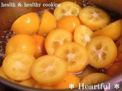 ヘルシーな金柑の蜂蜜煮