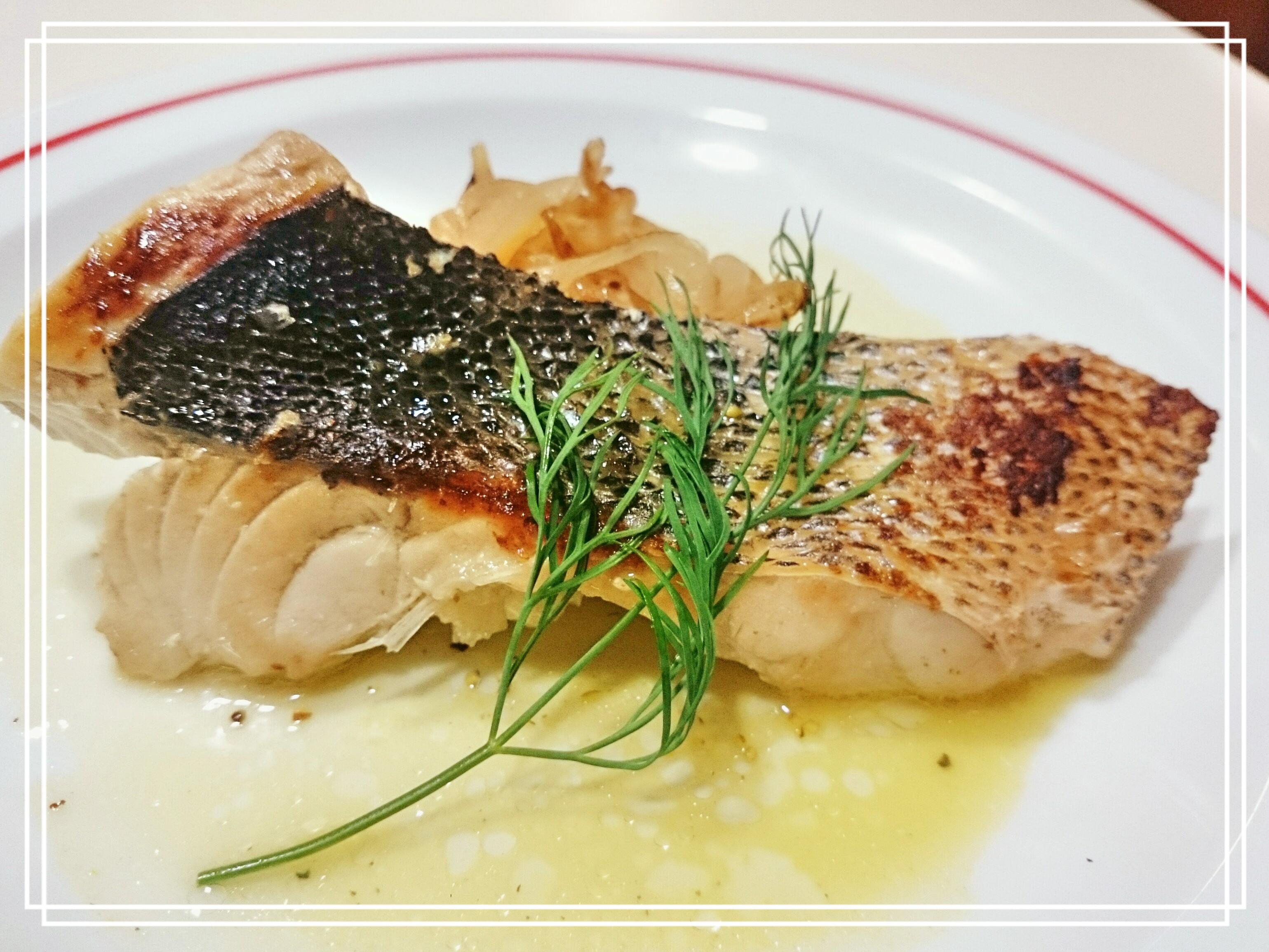 【お魚:スズキ】鱸のポワレ~サフランソース
