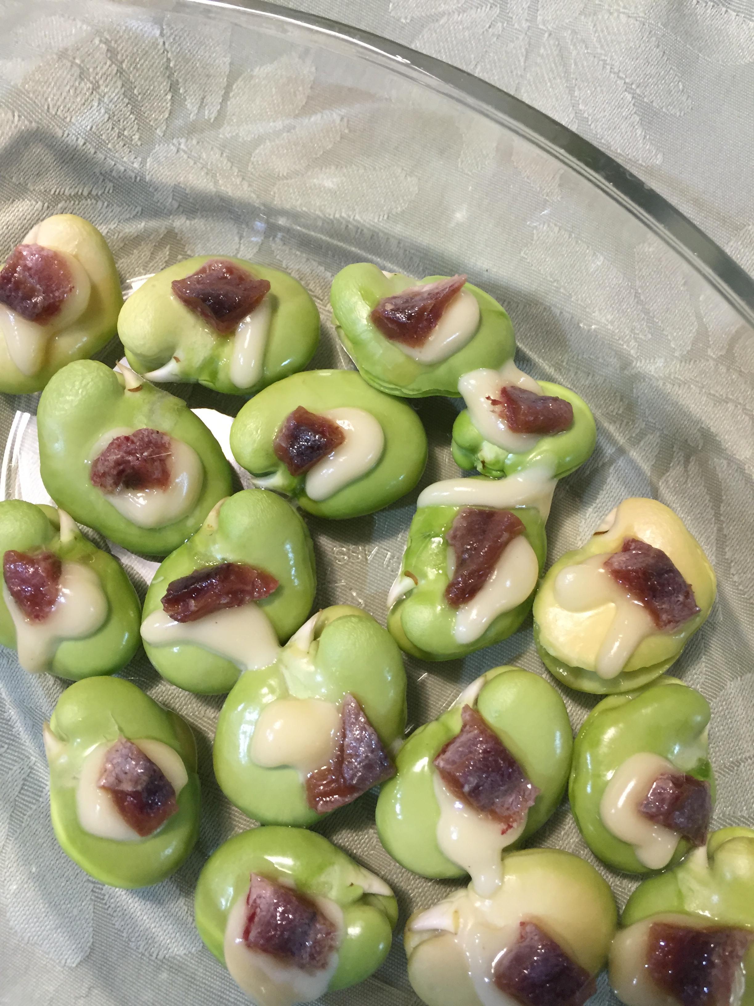 アンチョビと空豆
