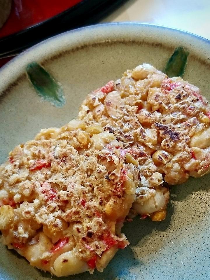 大豆と干し海老のカレーお焼き