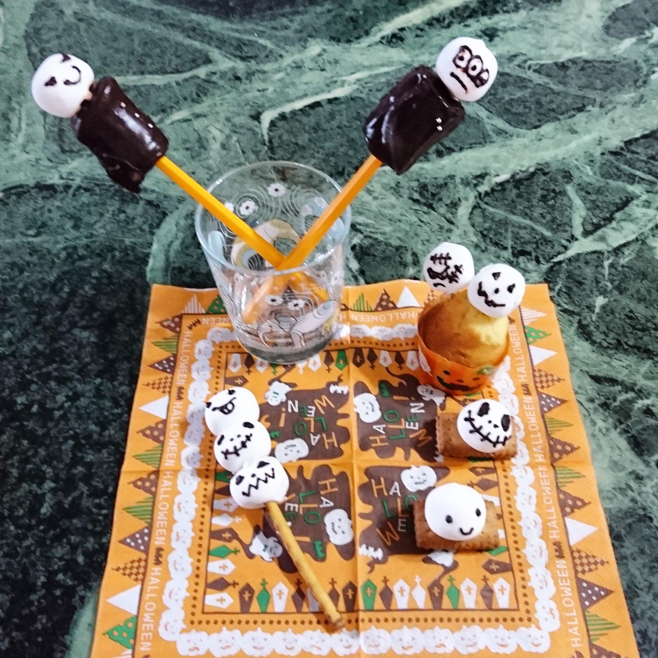 市販のお菓子でハロウィンパーティー