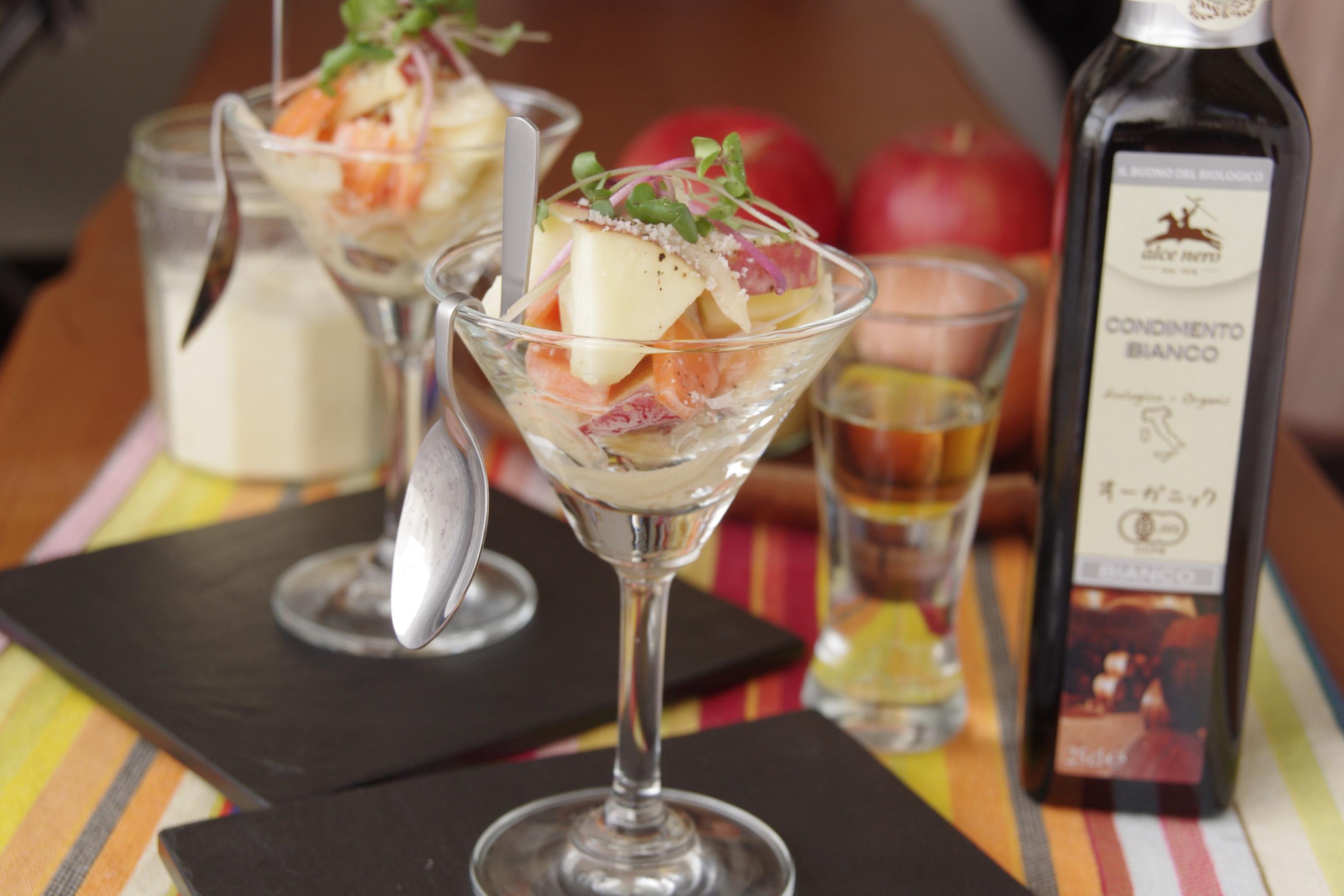 りんごと根菜のカクテルサラダ