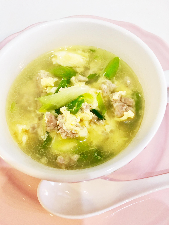 ひき肉と卵のスープ