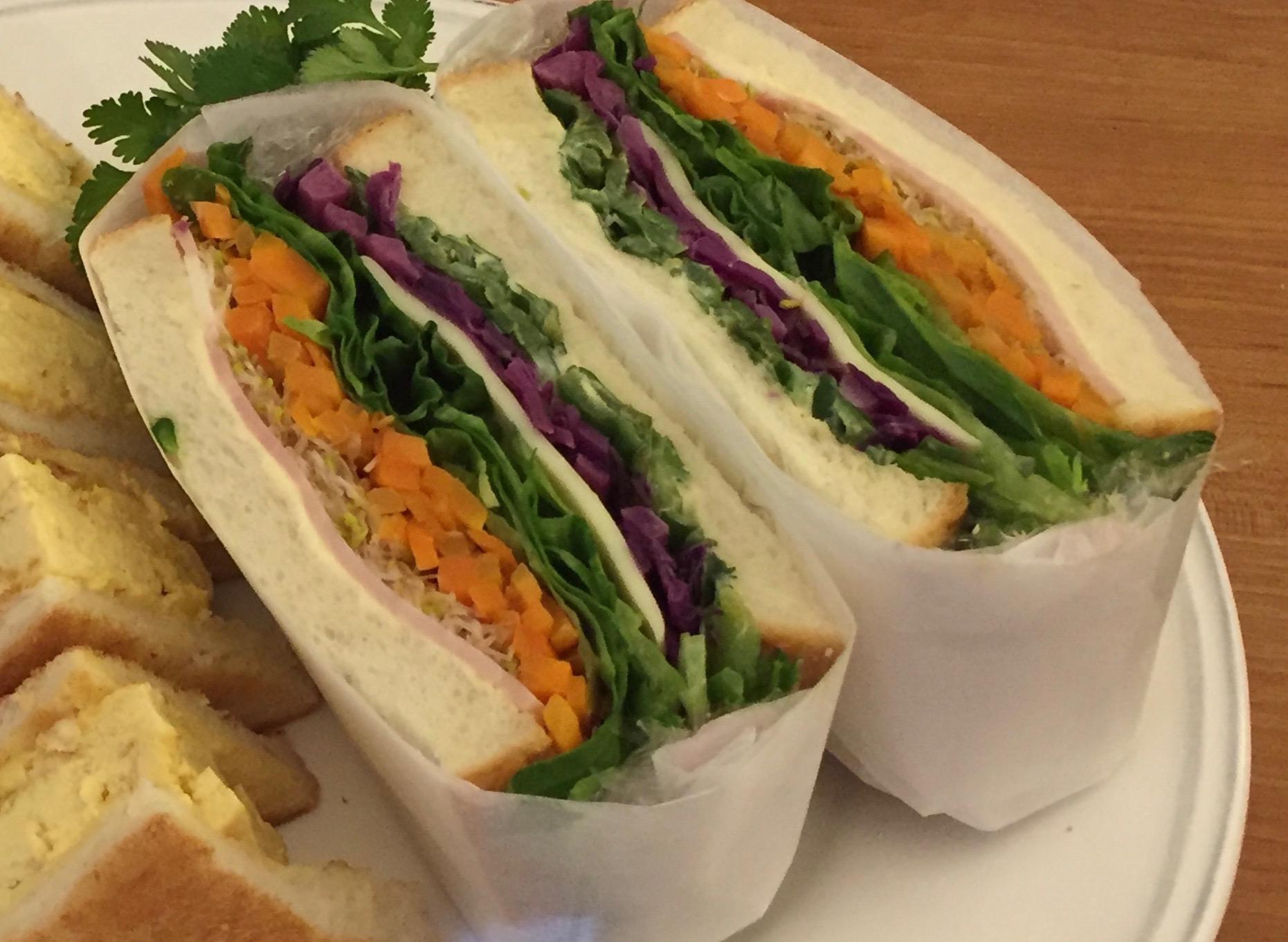 お野菜たっぷり!!ビジュアルサンドイッチ
