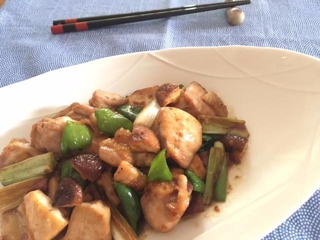 焼き鳥風鶏肉野菜炒め