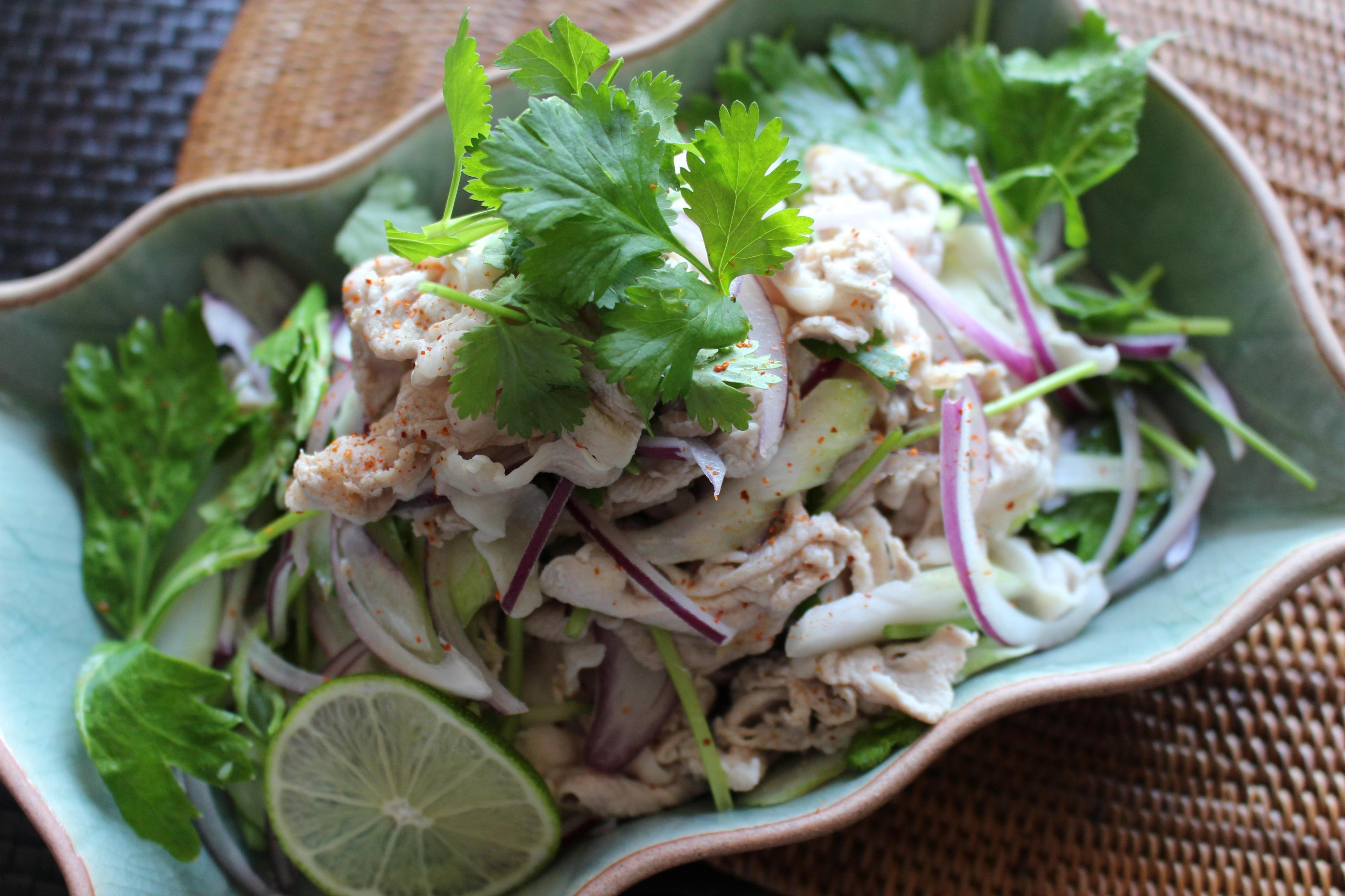しょうがみりんで味付け簡単!豚肉のアジアンサラダ