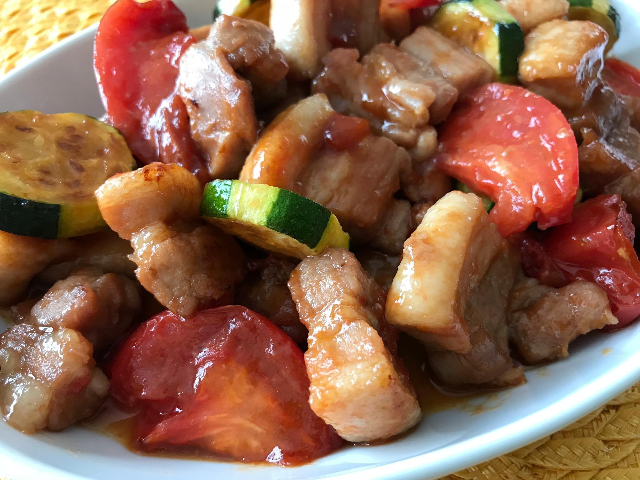 豚バラ肉のデリシャス照り焼き