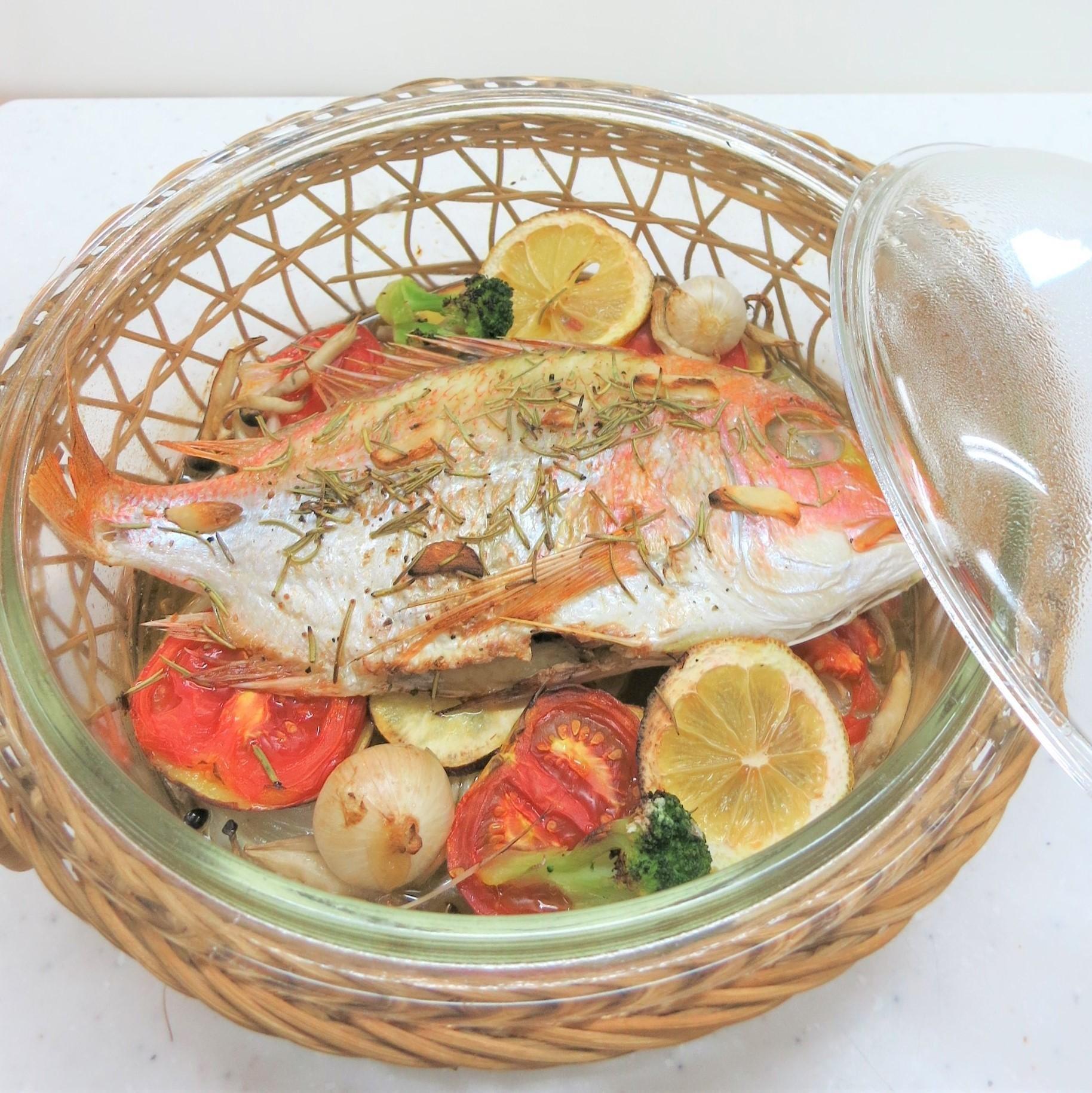 鯛のオーブン焼き~地中海料理~