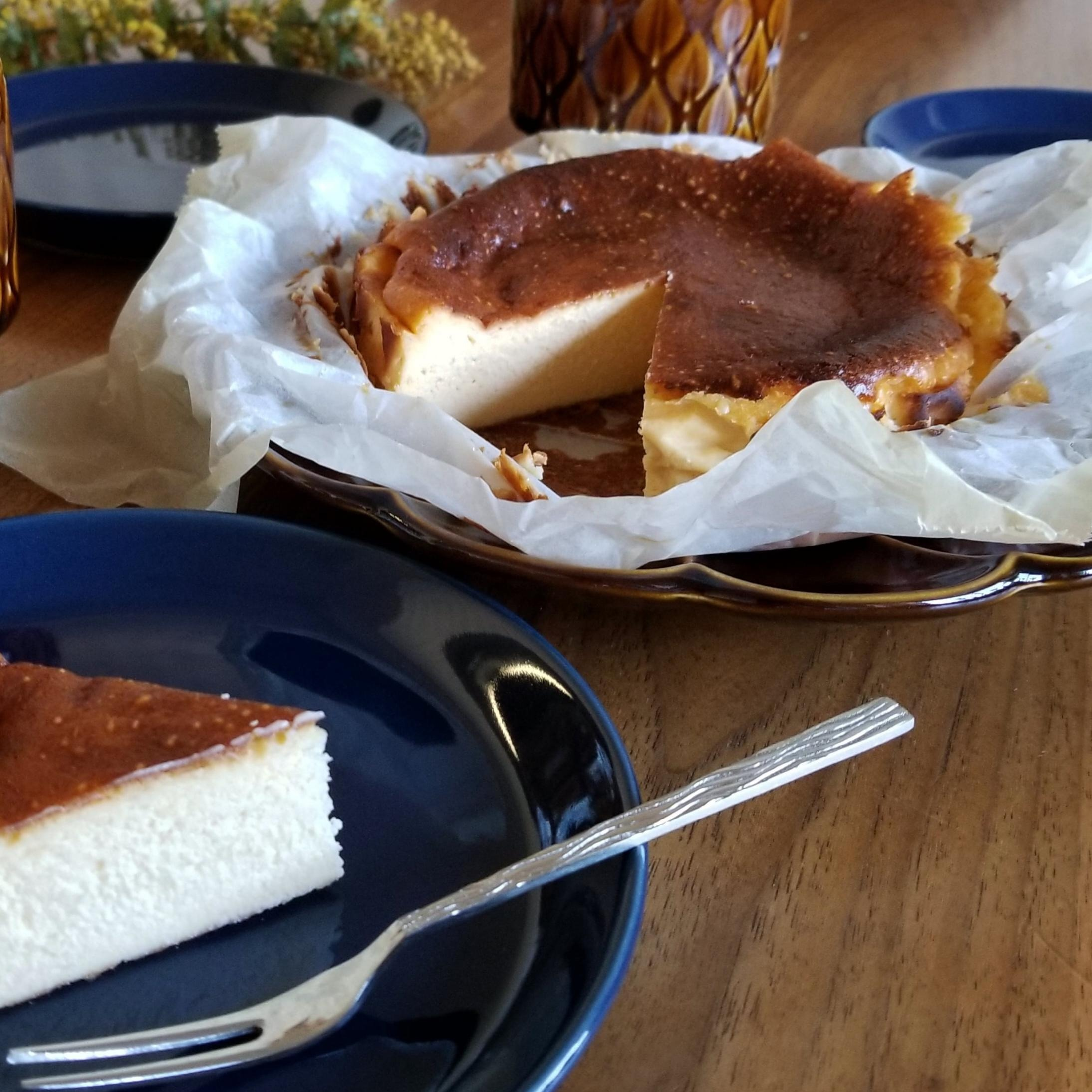バスク チーズ ケーキ レシピ 18cm